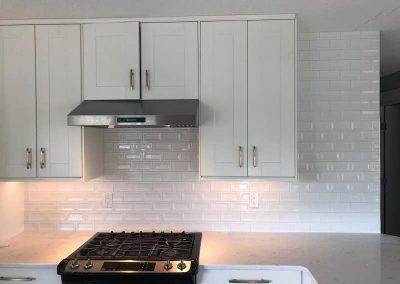 Arden Backsplash Kitchen White