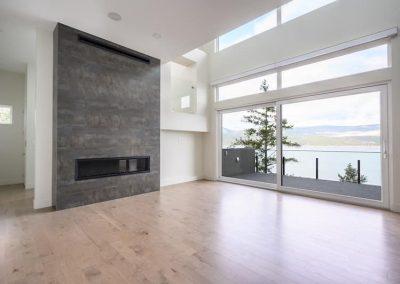 Arden Fireplace overlooking OkanLake