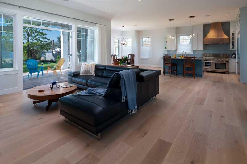 Living room Kitchen floor